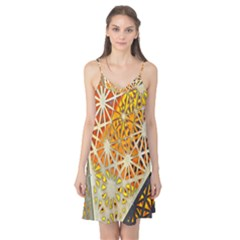 Abstract Starburst Background Wallpaper Of Metal Starburst Decoration With Orange And Yellow Back Camis Nightgown