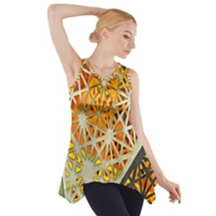 Abstract Starburst Background Wallpaper Of Metal Starburst Decoration With Orange And Yellow Back Side Drop Tank Tunic