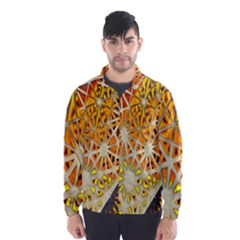 Abstract Starburst Background Wallpaper Of Metal Starburst Decoration With Orange And Yellow Back Wind Breaker (men)