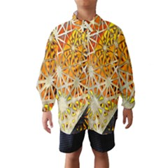 Abstract Starburst Background Wallpaper Of Metal Starburst Decoration With Orange And Yellow Back Wind Breaker (Kids)