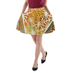 Abstract Starburst Background Wallpaper Of Metal Starburst Decoration With Orange And Yellow Back A Line Pocket Skirt