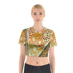 Abstract Starburst Background Wallpaper Of Metal Starburst Decoration With Orange And Yellow Back Cotton Crop Top