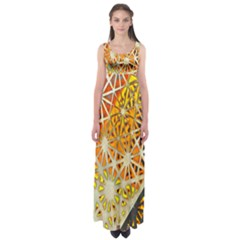 Abstract Starburst Background Wallpaper Of Metal Starburst Decoration With Orange And Yellow Back Empire Waist Maxi Dress