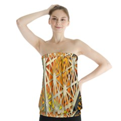 Abstract Starburst Background Wallpaper Of Metal Starburst Decoration With Orange And Yellow Back Strapless Top