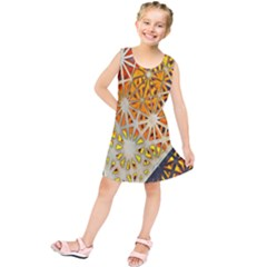 Abstract Starburst Background Wallpaper Of Metal Starburst Decoration With Orange And Yellow Back Kids  Tunic Dress