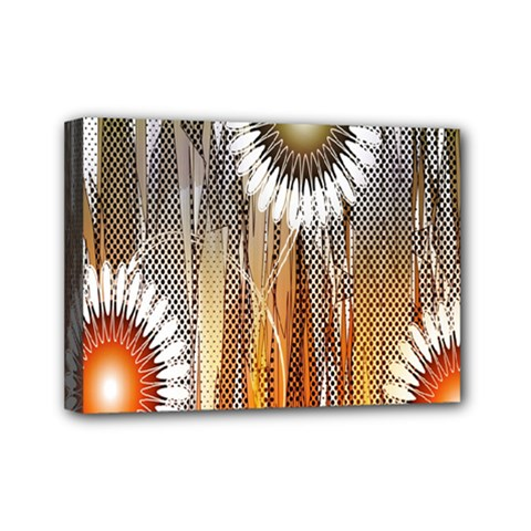 Floral Abstract Pattern Background Mini Canvas 7  X 5