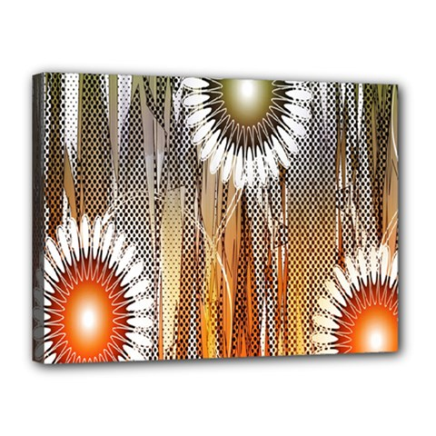 Floral Abstract Pattern Background Canvas 16  x 12