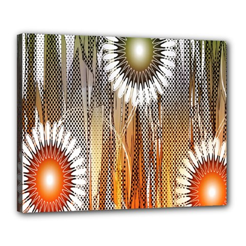 Floral Abstract Pattern Background Canvas 20  x 16