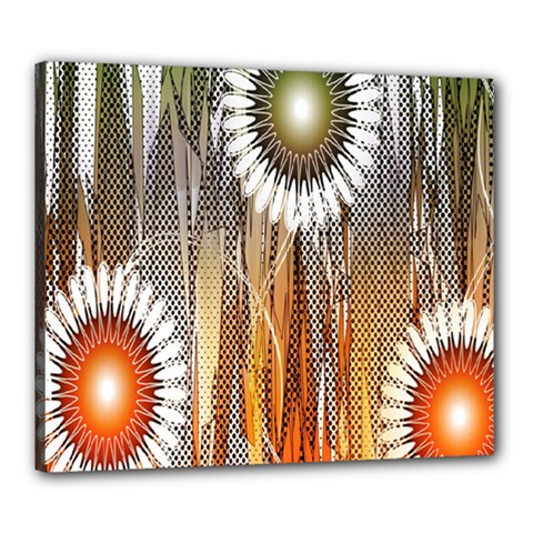 Floral Abstract Pattern Background Canvas 24  x 20
