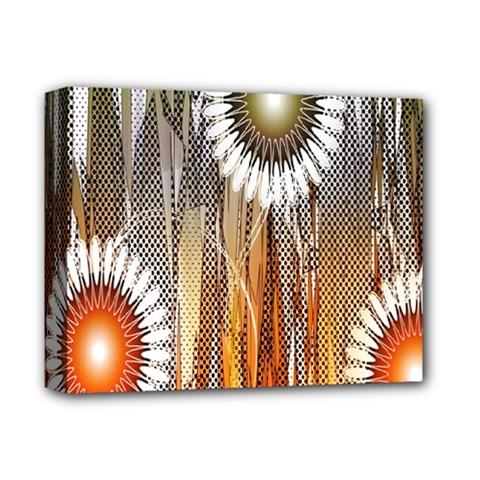 Floral Abstract Pattern Background Deluxe Canvas 14  x 11
