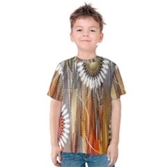 Floral Abstract Pattern Background Kids  Cotton Tee