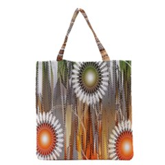 Floral Abstract Pattern Background Grocery Tote Bag