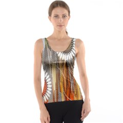 Floral Abstract Pattern Background Tank Top