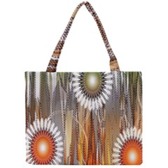 Floral Abstract Pattern Background Mini Tote Bag