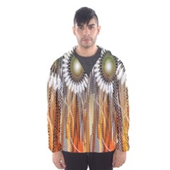 Floral Abstract Pattern Background Hooded Wind Breaker (men)