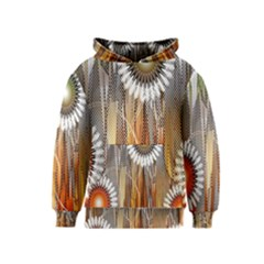 Floral Abstract Pattern Background Kids  Pullover Hoodie