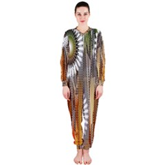 Floral Abstract Pattern Background OnePiece Jumpsuit (Ladies)