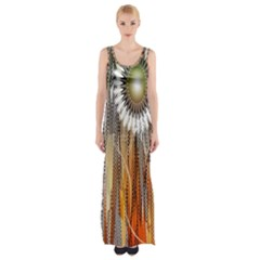 Floral Abstract Pattern Background Maxi Thigh Split Dress