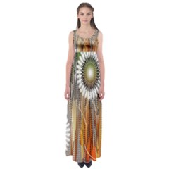 Floral Abstract Pattern Background Empire Waist Maxi Dress