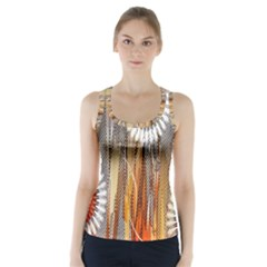Floral Abstract Pattern Background Racer Back Sports Top