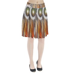 Floral Abstract Pattern Background Pleated Skirt