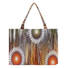 Floral Abstract Pattern Background Medium Tote Bag