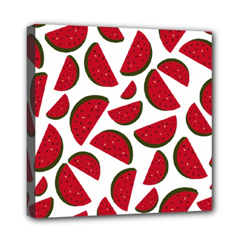 Fruit Watermelon Seamless Pattern Mini Canvas 8  X 8
