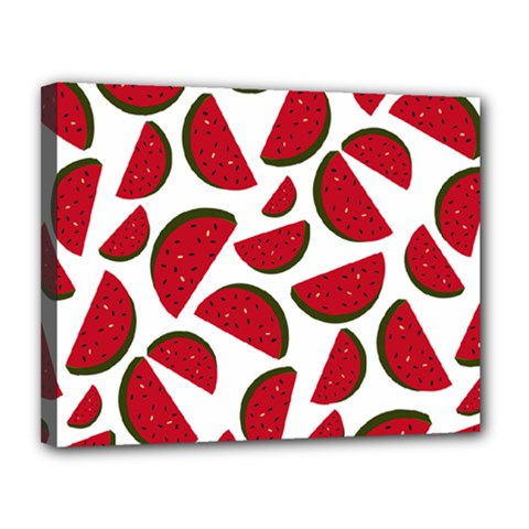 Fruit Watermelon Seamless Pattern Canvas 14  x 11