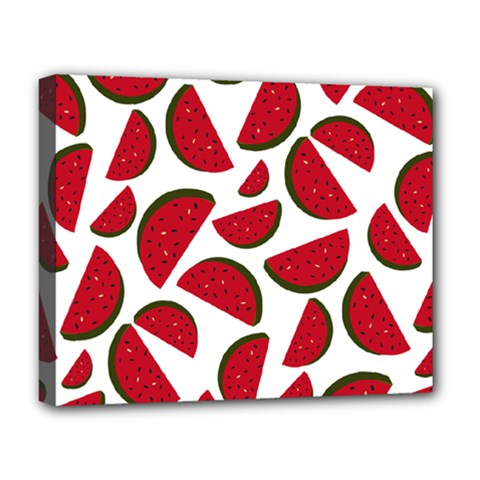 Fruit Watermelon Seamless Pattern Deluxe Canvas 20  x 16