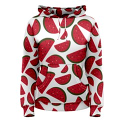 Fruit Watermelon Seamless Pattern Women s Pullover Hoodie