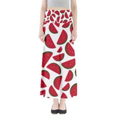 Fruit Watermelon Seamless Pattern Maxi Skirts