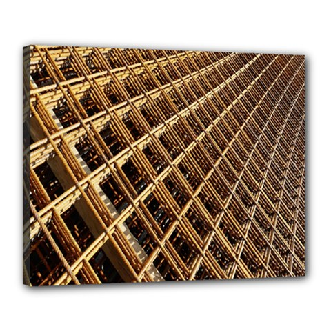 Construction Site Rusty Frames Making A Construction Site Abstract Canvas 20  x 16