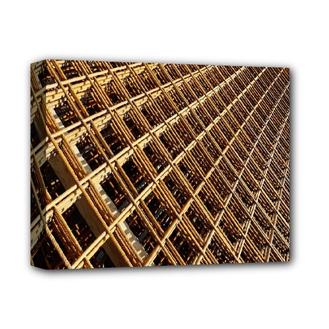 Construction Site Rusty Frames Making A Construction Site Abstract Deluxe Canvas 14  x 11