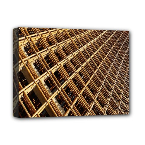 Construction Site Rusty Frames Making A Construction Site Abstract Deluxe Canvas 16  X 12