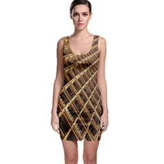 Construction Site Rusty Frames Making A Construction Site Abstract Sleeveless Bodycon Dress