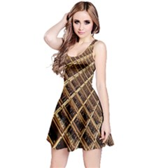Construction Site Rusty Frames Making A Construction Site Abstract Reversible Sleeveless Dress