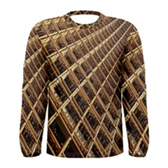 Construction Site Rusty Frames Making A Construction Site Abstract Men s Long Sleeve Tee