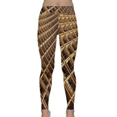 Construction Site Rusty Frames Making A Construction Site Abstract Classic Yoga Leggings