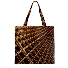 Construction Site Rusty Frames Making A Construction Site Abstract Zipper Grocery Tote Bag