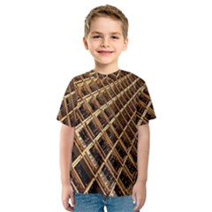 Construction Site Rusty Frames Making A Construction Site Abstract Kids  Sport Mesh Tee