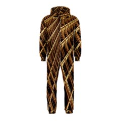 Construction Site Rusty Frames Making A Construction Site Abstract Hooded Jumpsuit (kids)