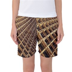 Construction Site Rusty Frames Making A Construction Site Abstract Women s Basketball Shorts