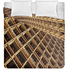 Construction Site Rusty Frames Making A Construction Site Abstract Duvet Cover Double Side (king Size)