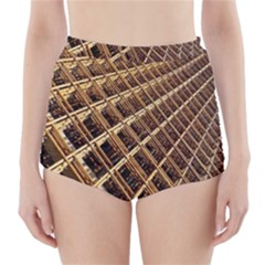 Construction Site Rusty Frames Making A Construction Site Abstract High-Waisted Bikini Bottoms