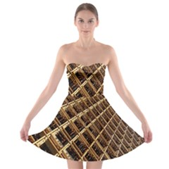 Construction Site Rusty Frames Making A Construction Site Abstract Strapless Bra Top Dress