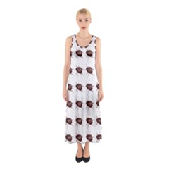 Insect Pattern Sleeveless Maxi Dress