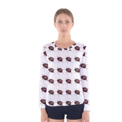 Insect Pattern Women s Long Sleeve Tee
