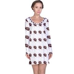 Insect Pattern Long Sleeve Nightdress
