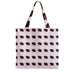 Insect Pattern Zipper Grocery Tote Bag