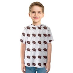 Insect Pattern Kids  Sport Mesh Tee